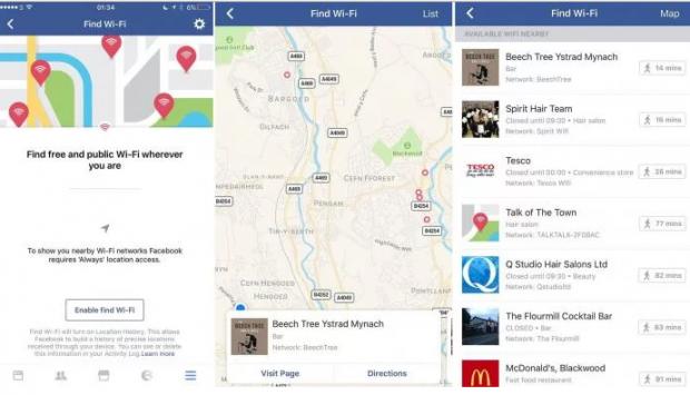 Facebook тестує функцію пошуку безкоштовного Wi Fi
