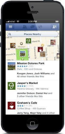Facebook оновлює пошуковий сервіс Nearby