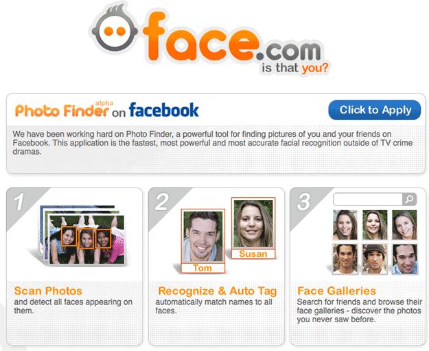 Facebook придбав сервіс розпізнавання облич Face.com