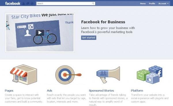 Facebook запустив розділ для бізнесу
