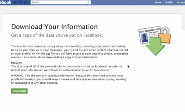 Facebook дозволить завантажити всю інформацію про людину