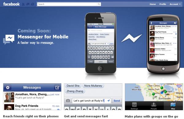 Facebook запустив мобільний додаток Facebook Messenger