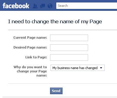 Як змінити назву Facebook сторінки