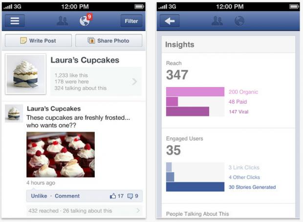 Facebook запустив окремий додаток для управління сторінками
