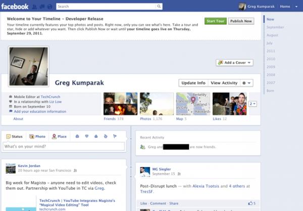 Facebook поступово відкриває доступ до Timeline