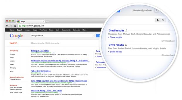 Google тестує пошук документів користувачів, розміщених в Google Drive