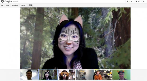 Google+ додає нові ефекти до Hangouts