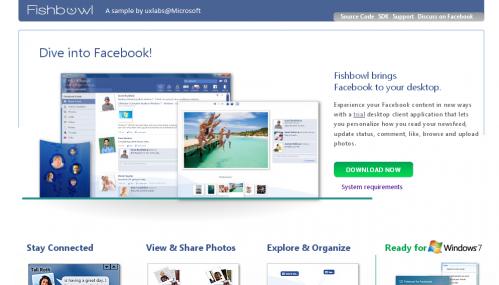 Microsoft випустила клієнт для Facebook