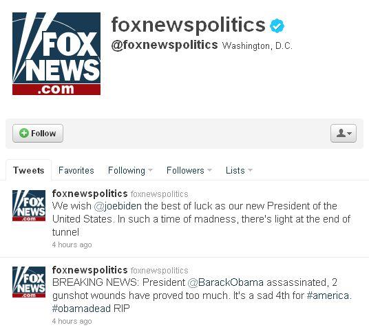Хакери зламали твітер Fox News і повідомили про смерть Обами