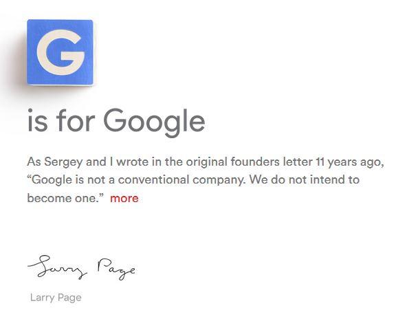 В Google грандіозні зміни: Пейдж покидає пост CEO, компанія переходить в холдинг Alphabet