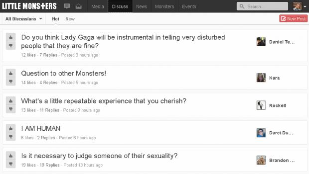 Lady Gaga запустила власну соціальну мережу «Little Monsters»