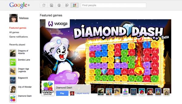 На Google+ зявилися ігри