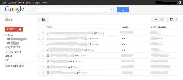 В інтернеті зявилися скріншоти нового сервісу Google Drive