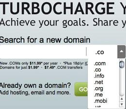 Godaddy замінив .co на .com