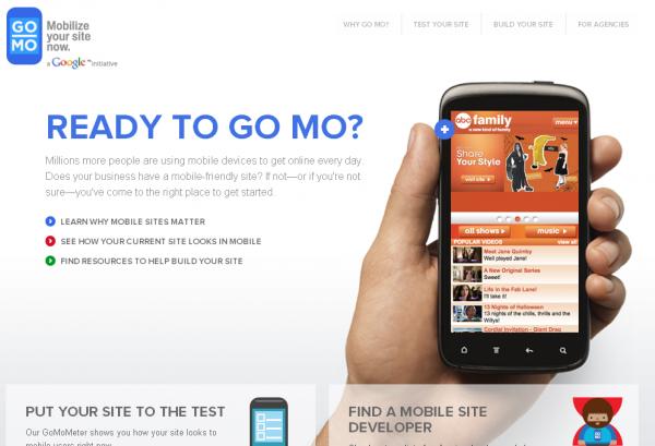 Google спростить створення мобільних сайтів
