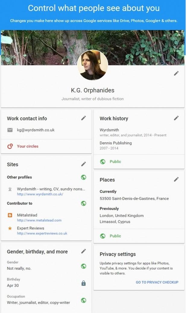 Google дав можливість подивитись, що інші люди можуть дізнатись про вас через його сервіси