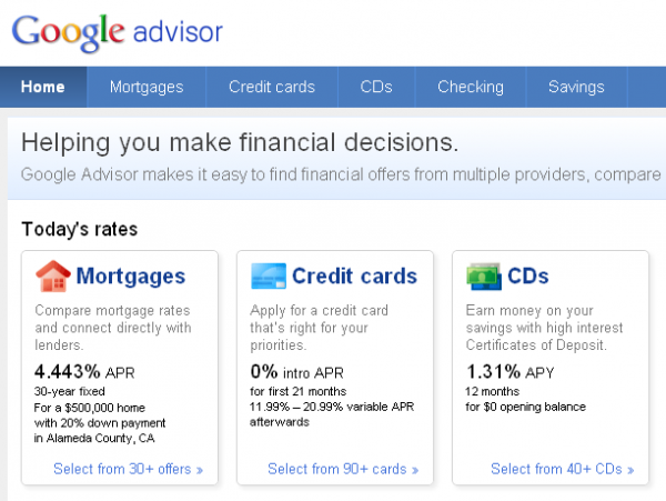 Google запустив фінансовий порадник Advisor