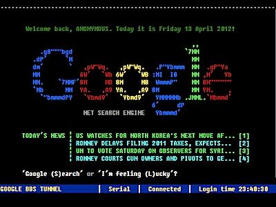 Як пошук від Google виглядав би у 80 ті