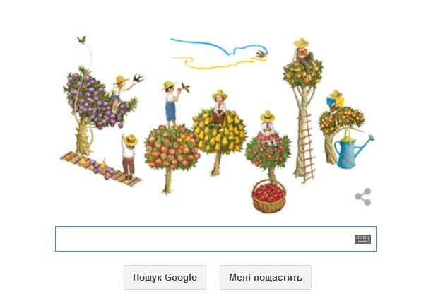 Google змінив свій логотип на честь Дня Незалежності України