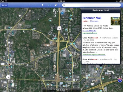 Додаток Google Earth зявився на iPad (фото)