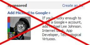 Facebook заблокував рекламу Google+ на своєму сайті
