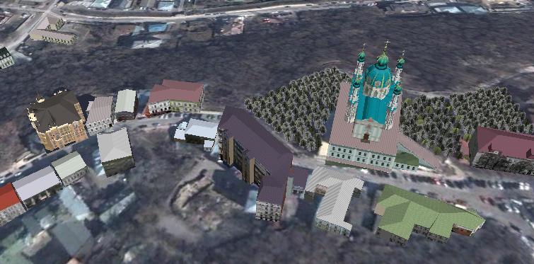 Google зробив доступною 3D карту Києва