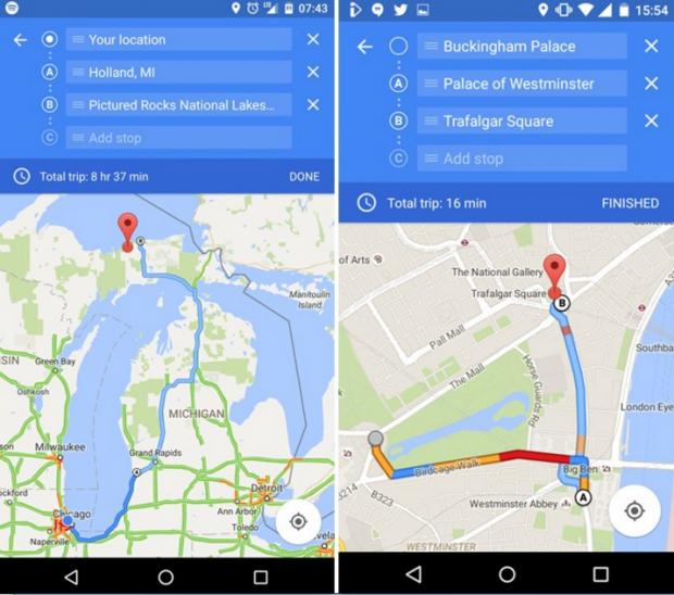 Користувачі Android зможуть прокладати в Google Картах маршрут з кількома зупинками