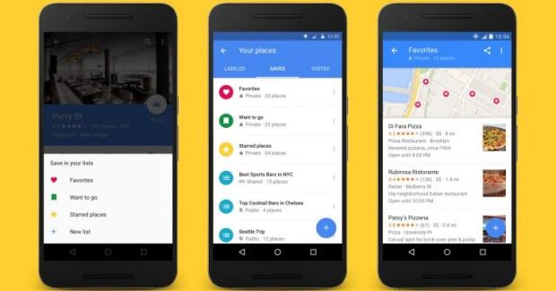 Списки улюблених місць в Google Maps стали доступні всім користувачам