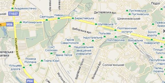 Google наніс на карту Києва неіснуючу гілку метро