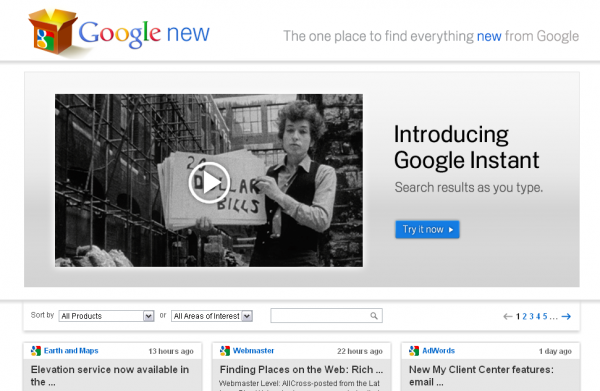 Гугл нарешті навчився повідомляти про свої новинки