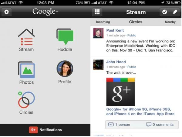 Google+ випустив мобільний додаток для iOS