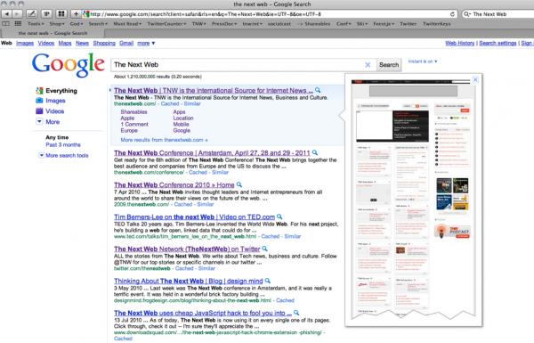 Google тестує функцію попереднього перегляду сайтів