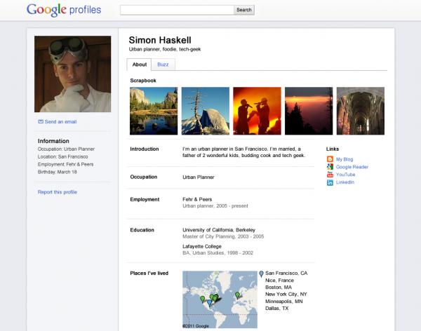 Google оновив дизайн профілів