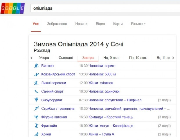 Зимова Олімпіада в Сочі: як подивитись інтернет трансляцію в онлайні