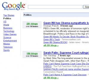 Google допоможе знайти найцікавіші теми блогосфери: новий проект на базі Google Blog Search