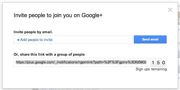 Користувачі Google+ отримали по 150 інвайтів