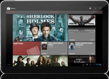 Оновлений Android Market продаватиме фільми