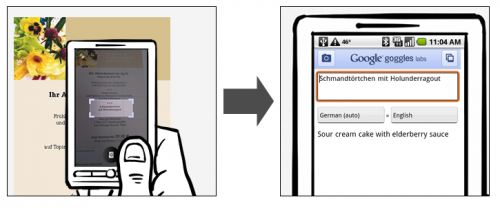 Google вміє перекладати текст на фотографіях