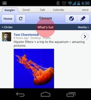 Google+: оновлення статусів з пошуку та тренди для мобільної версії