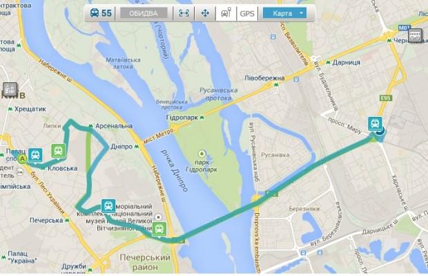 Рух громадського транспорту Києва тепер можна відслідковувати в онлайні