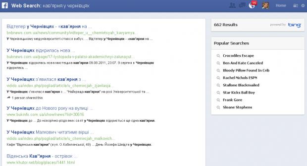 Facebook Graph Search вже доступний для українців