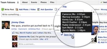 У Facebook групах буде відображатися хто побачив кожну публікацію