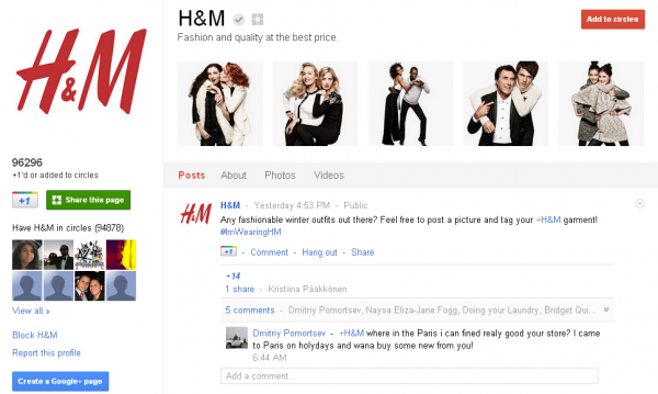10 найпопулярніших сторінок на Google+