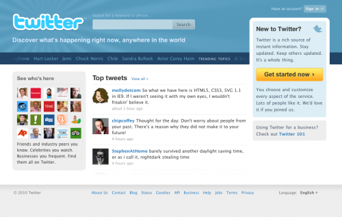 Twitter зробив редизайн головної сторінки