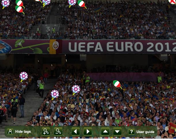 Знайди себе на стадіонах під час матчів ЄВРО 2012