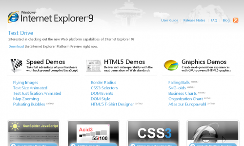 Microsoft показала Internet Explorer 9