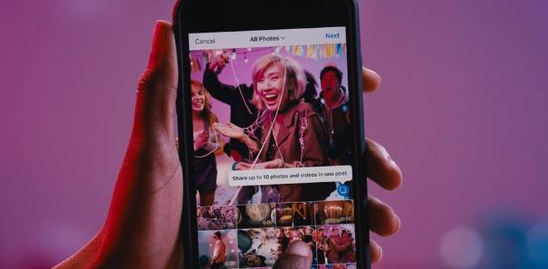 Instagram запустив «каруселі» для показу до 10 фото і відео в одній публікації