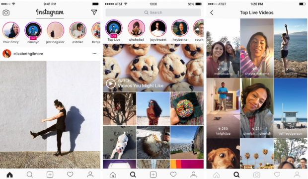 Instagram запускає прямі трансляції та повідомлення, які автоматично видалятимуться