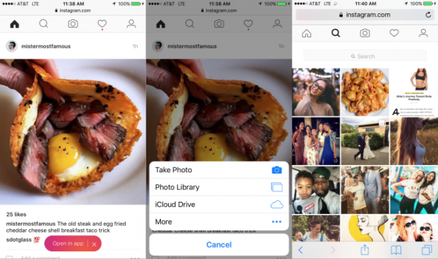 Додавати фото в Instagram відтепер можна у браузері