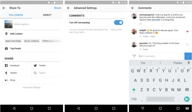 Instagram дозволить видаляти підписників і відключати коментарі до публікацій